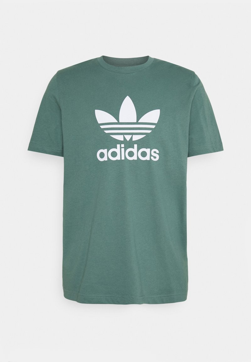 adidas Originals - TREFOIL UNISEX - Print T-shirt - hazy emerald/white