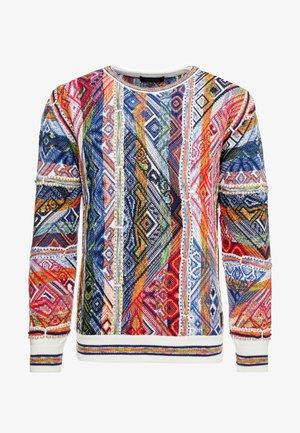 UNISEX - Stickad tröja - white/multi coloured