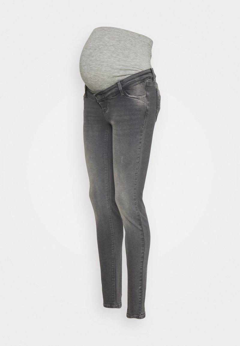 MAMALICIOUS - MLSAVANNA - Slim fit jeans - medium grey denim