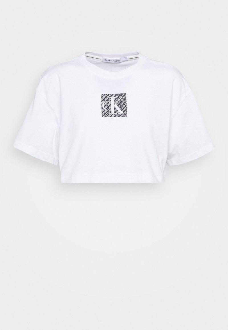 Calvin Klein Jeans - HOLOGRAM LOGO - Print T-shirt - bright white