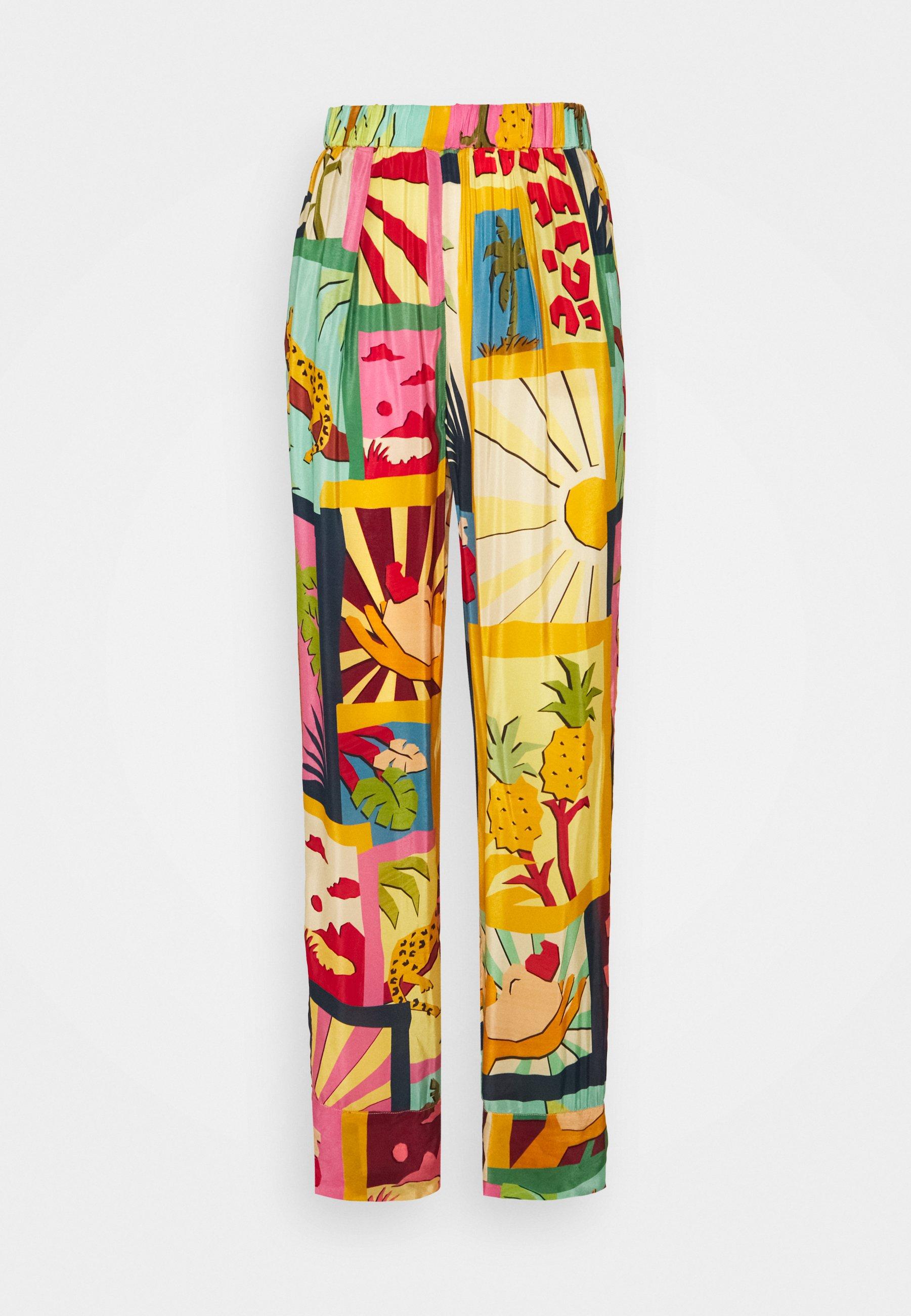 Donna COLLAGE PAJAMA PANTS - Pantaloni