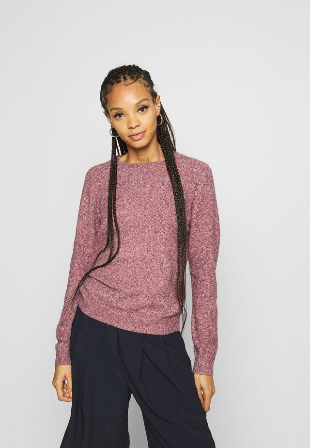VMDOFFY O NECK - Stickad tröja - cabernet/ white melange