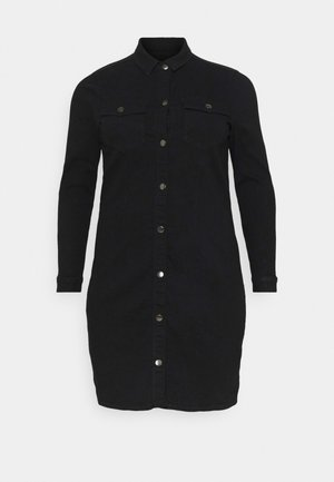 PCSILIA DRESS - Denim dress - black