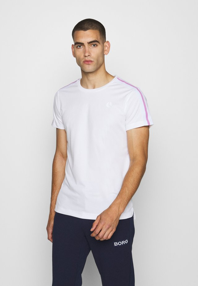TOMLIN TEE - T-shirt imprimé - brilliant white