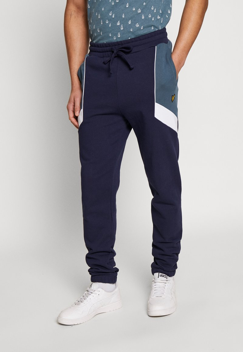 Lyle & Scott - SPLICE TRACKPANT - Trainingsbroek - navy