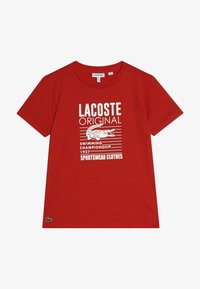 Lacoste - Print T-shirt - red - 3