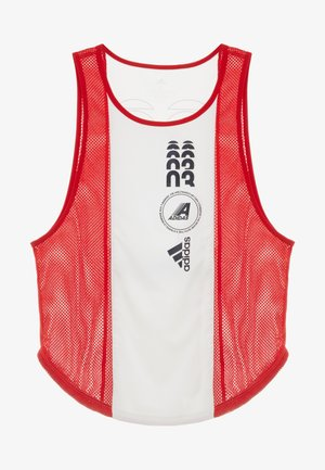 CLIMACOOL WORKOUT GRAPHIC TANK - Top - white/scarlet
