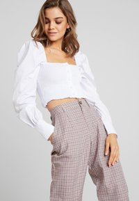 Missguided - PURPOSEFUL CHECKED SPLIT HEM TROUSERS - Trousers - purple - 3
