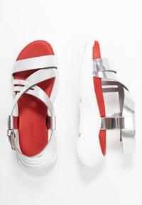 Sportmax - ARDEA - Platform sandals - argento - 3