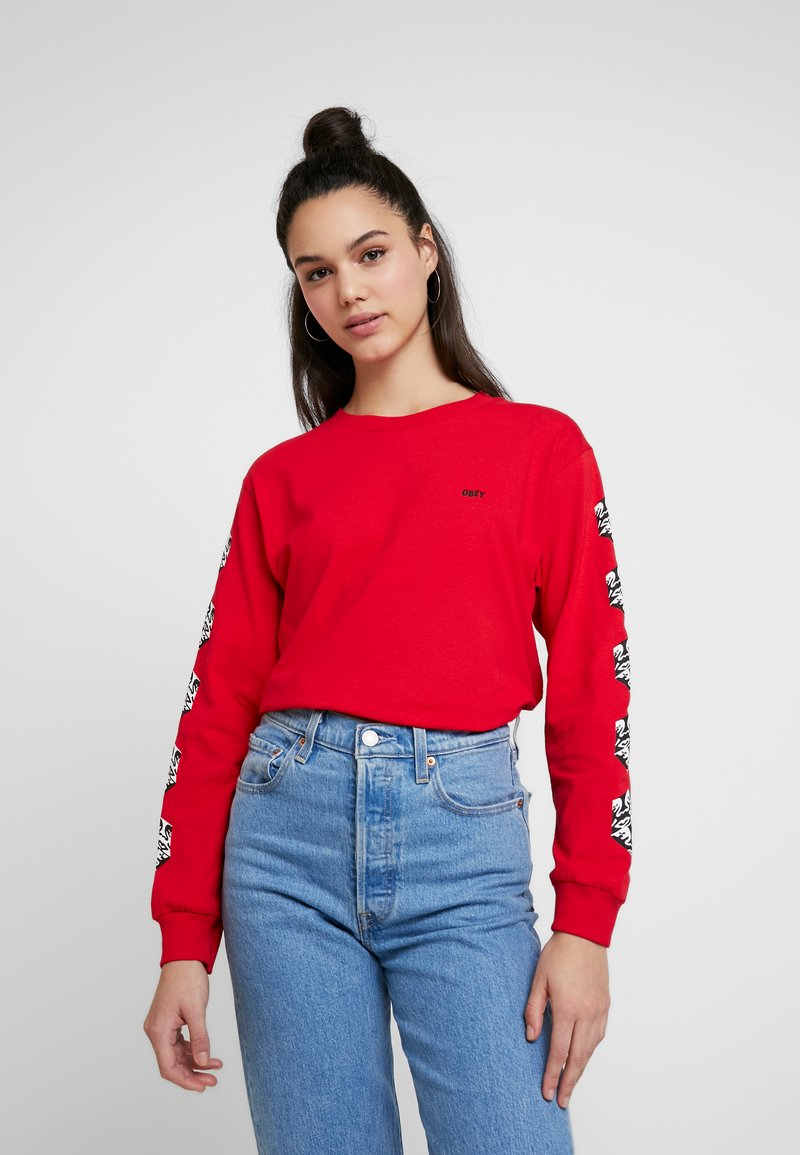 Obey Clothing - OBEY CUBE - Long sleeved top - red