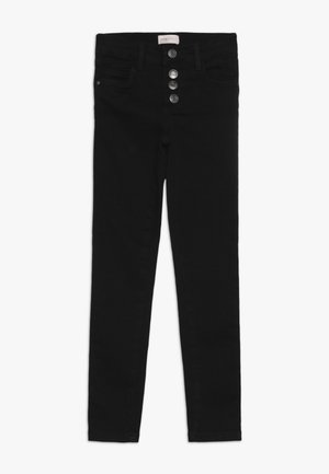 KONROSE BUTTON  - Straight leg jeans - black denim