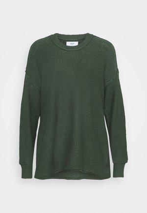 DECONSTRUCTED CREW - Jumper dress - kenya green