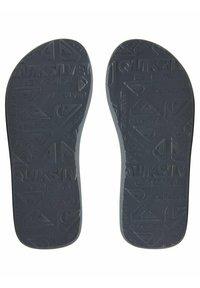 Quiksilver - T-bar sandals - black/grey/yellow - 2