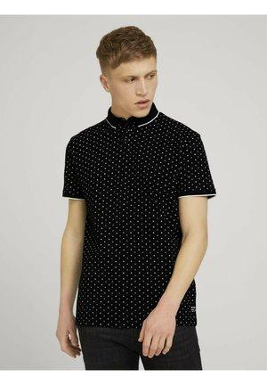 Polo shirt - black regular dot print