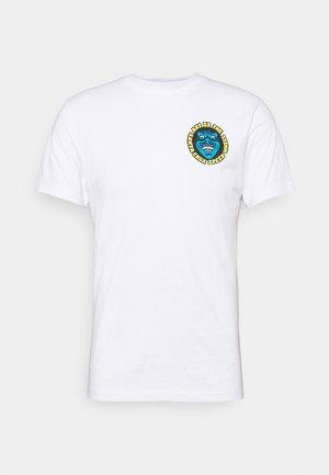 LOGO MASH UNISEX - Print T-shirt - white
