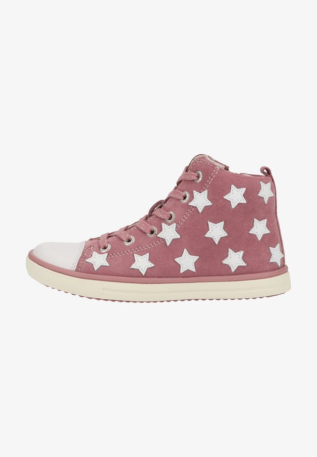 Sneakers hoog - sweet rose