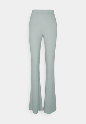 NMPASA FLARED PANTS  - Bukse - slate gray