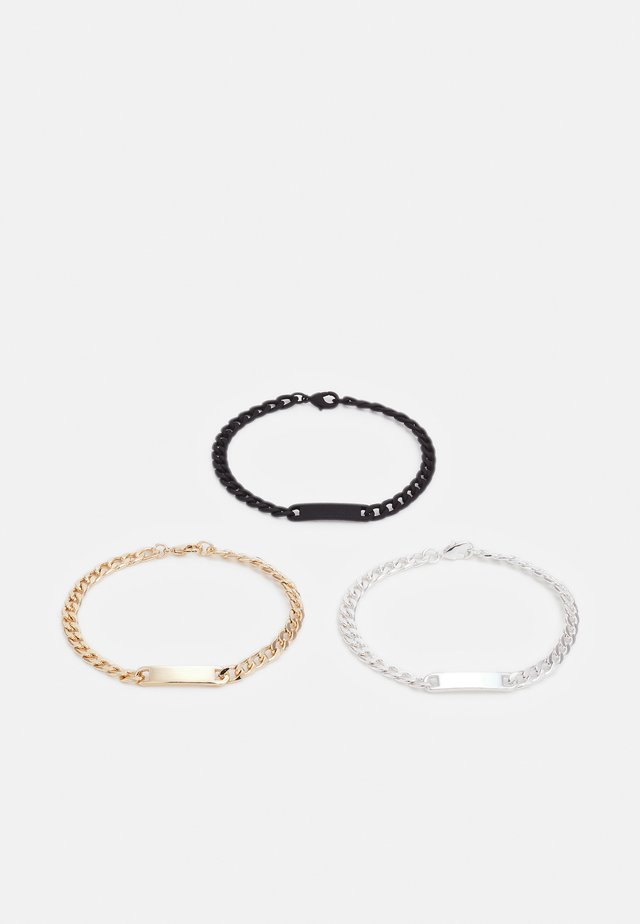 ID CHAIN BRACELETS 3 PACK - Armband - silver-coloured