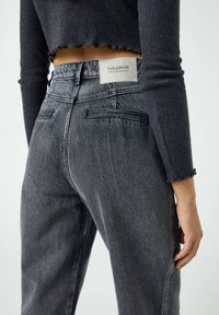 PULL&BEAR - Jeans baggy - mottled grey - 5