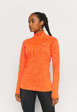 TECH 1/2 ZIP TWIST - Sports shirt - dark orange