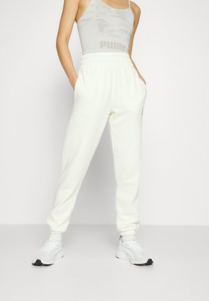 TIGER KING PRINTED EMBROIDERY HIGH WAIST RELAXED JOGGER - Tracksuit bottoms - eggnog