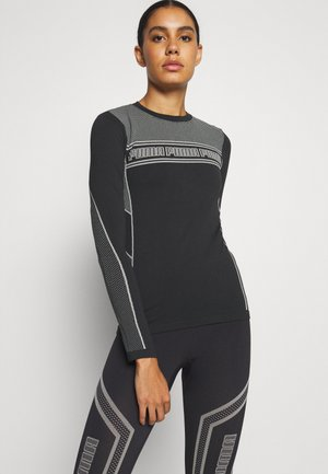 EVOSTRIPE EVOKNIT TEE - Long sleeved top - black