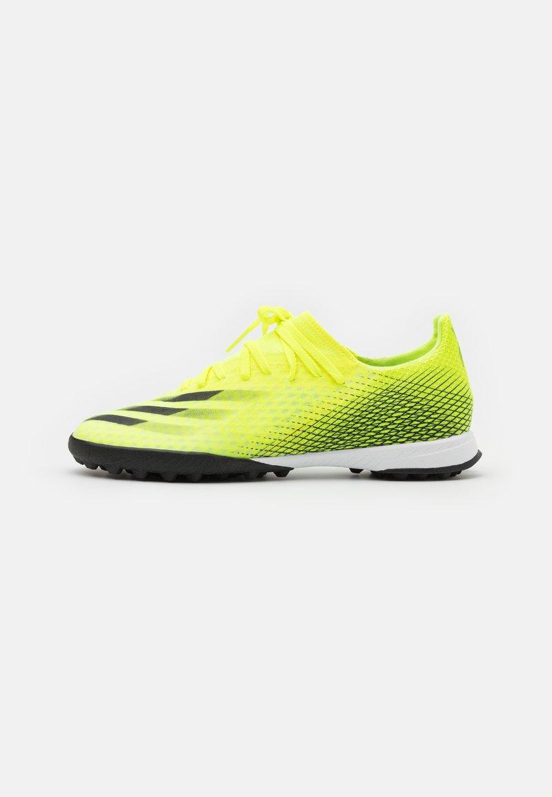 adidas Performance - X GHOSTED.3 TF - Kopačky na umělý trávník - solar yellow/core black/royal blue