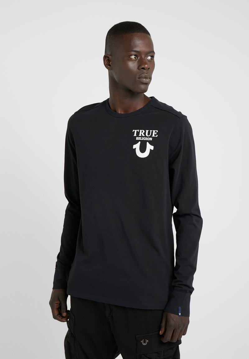 True Religion - LONGSLEEVE LOGO  - Camiseta de manga larga - black