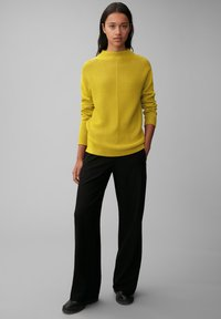Marc O'Polo - STRUCTURE MIX TURTLENECK - Jumper - fresh pea - 1