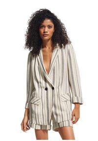 comma casual identity - RETRO - Short coat - white woven stripes - 0