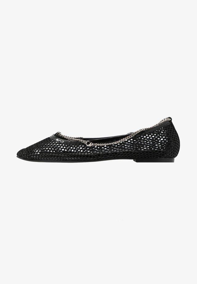 GERALDINE - Ballerinaskor - black/silver