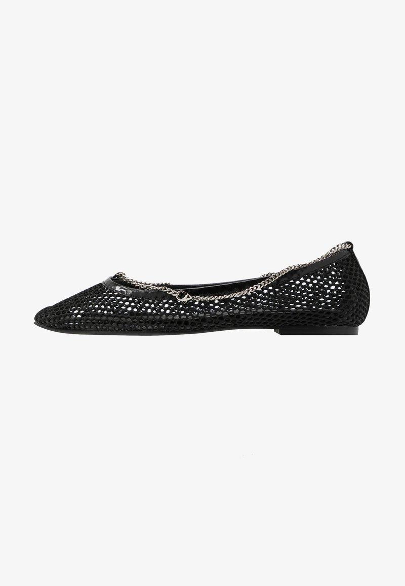 Jeffrey Campbell - GERALDINE - Ballet pumps - black/silver