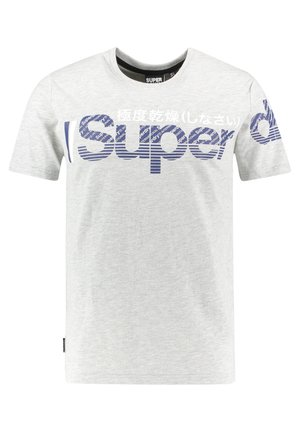 SUPERDRY CORE SPLIT LOGO T-SHIRT - Print T-shirt - mittelgrau (230)