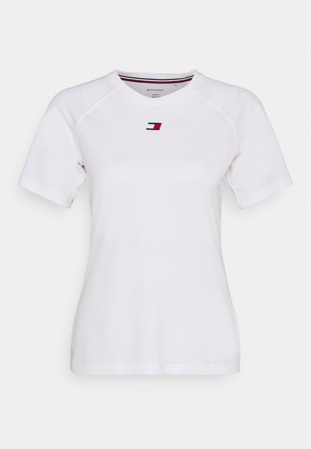 PERFORMANCE LOGO - Print T-shirt - white