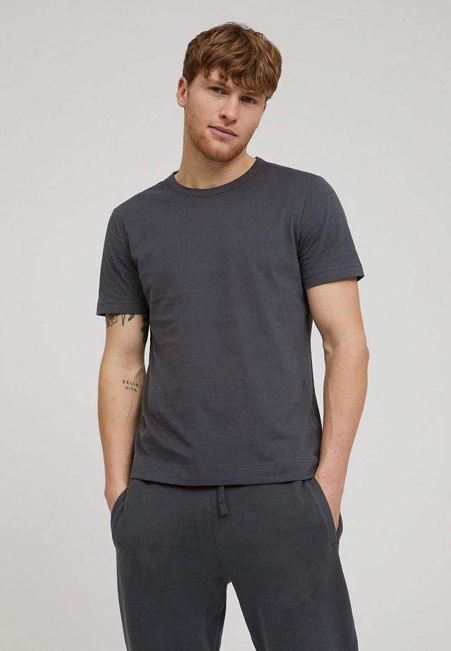 AANTONIO SOFT BRUSHED - Basic T-shirt - acid black