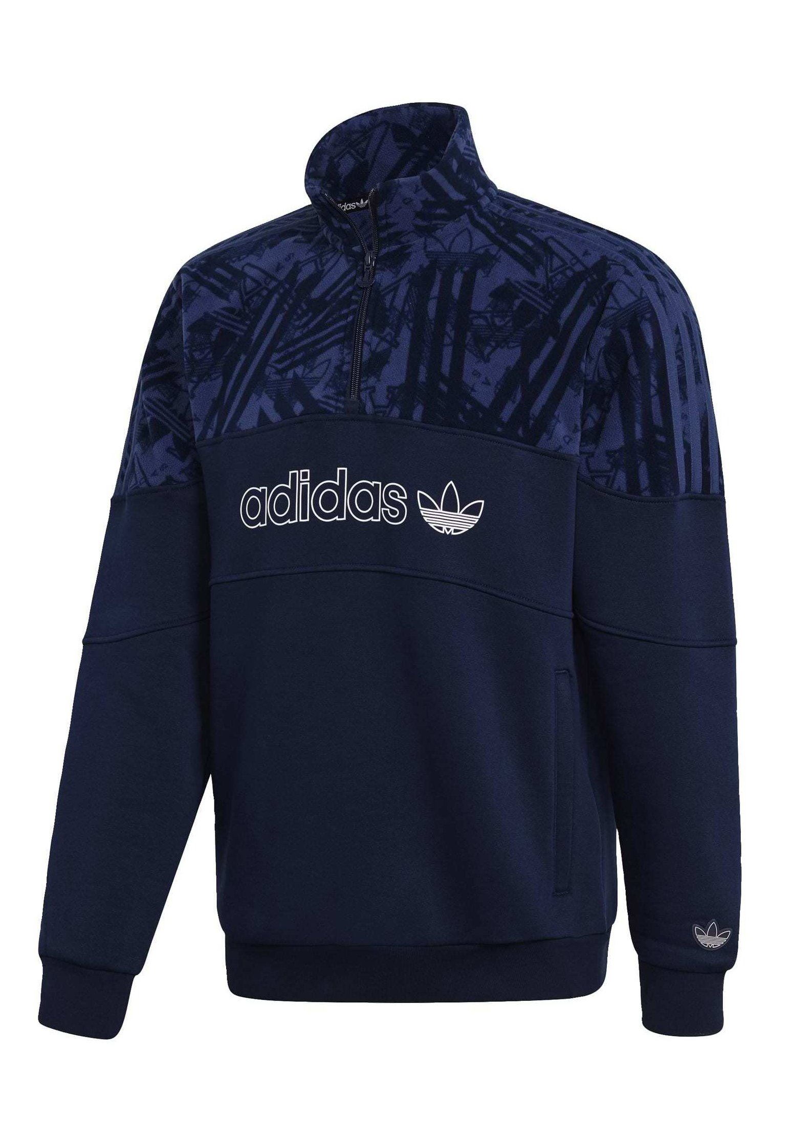 adidas Originals QUARTER ZIP TRACK Sweater blueBlauw