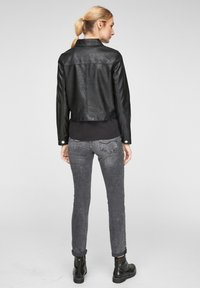 QS by s.Oliver - Faux leather jacket - black - 2