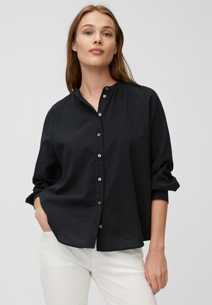 Button-down blouse - dark atlantic