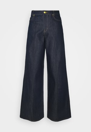 EXAGERATED WIDE LEG - Jeansy Dzwony - blue denim