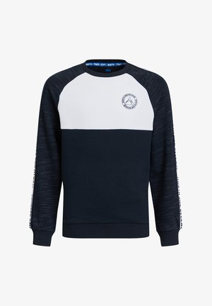 JONGENS SWEATER MET COLOURBLOCK EN TAPEDETAIL - Trui - dark blue