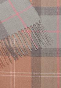 Barbour - HAILES TARTAN WRAP  - Scarf - taupe/pink tartan - 2