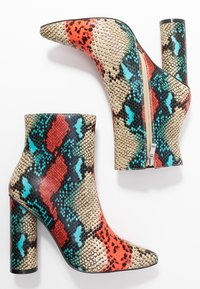 BEBO - SONIA - Classic ankle boots - red/multicolor - 3