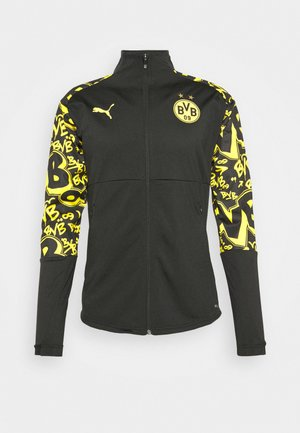 BVB BORUSSIA DORTMUND STADIUM JACKET - Club wear - black/cyber yellow