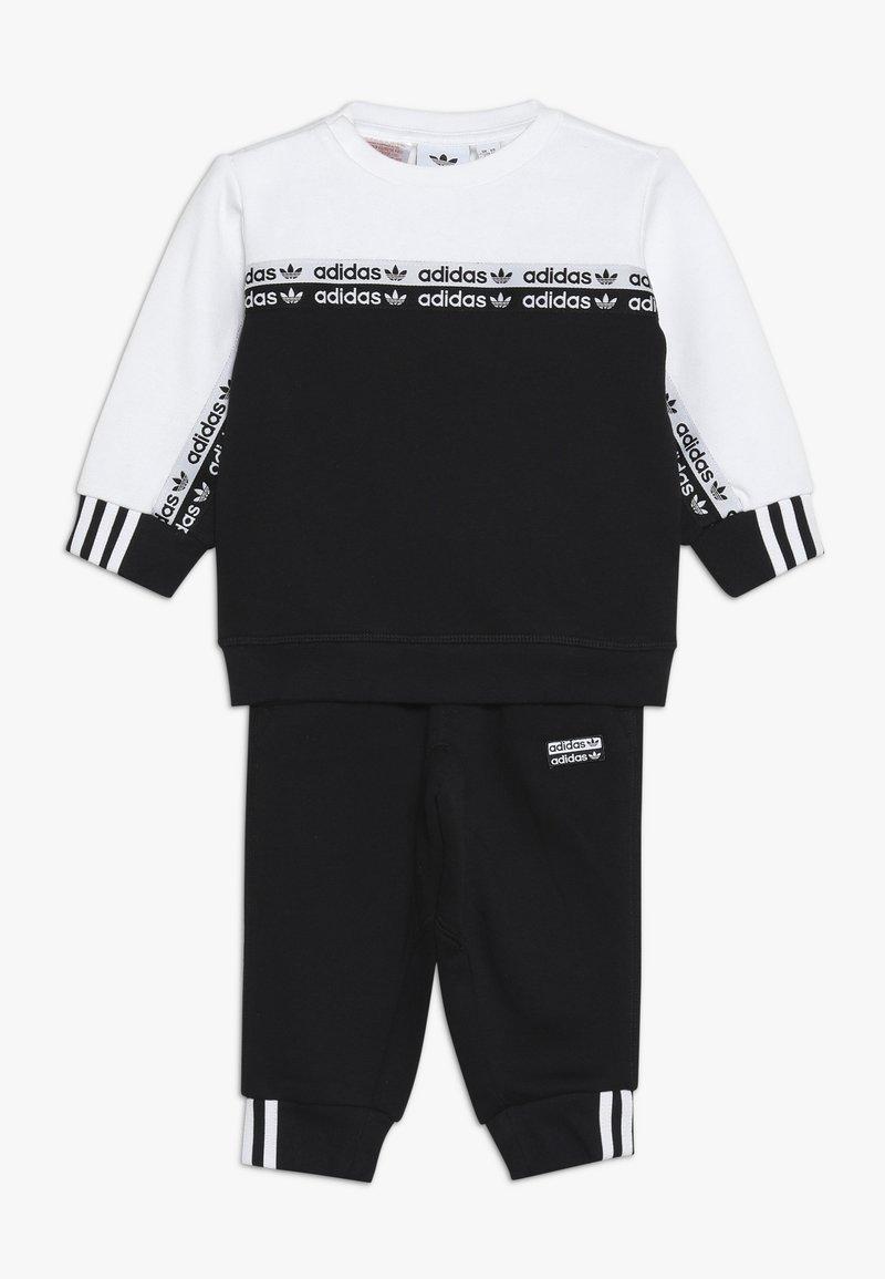 adidas Originals - CREW SET - Sudadera - black/white