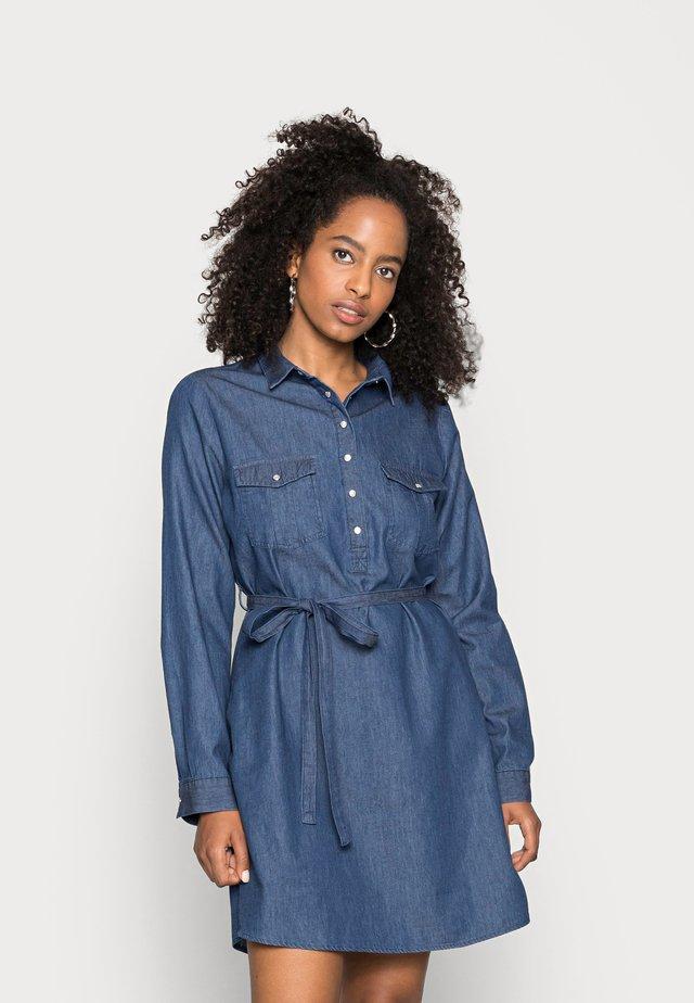 TAMMY LONG SLEEVE DRESS - Sukienka koszulowa - dark denim