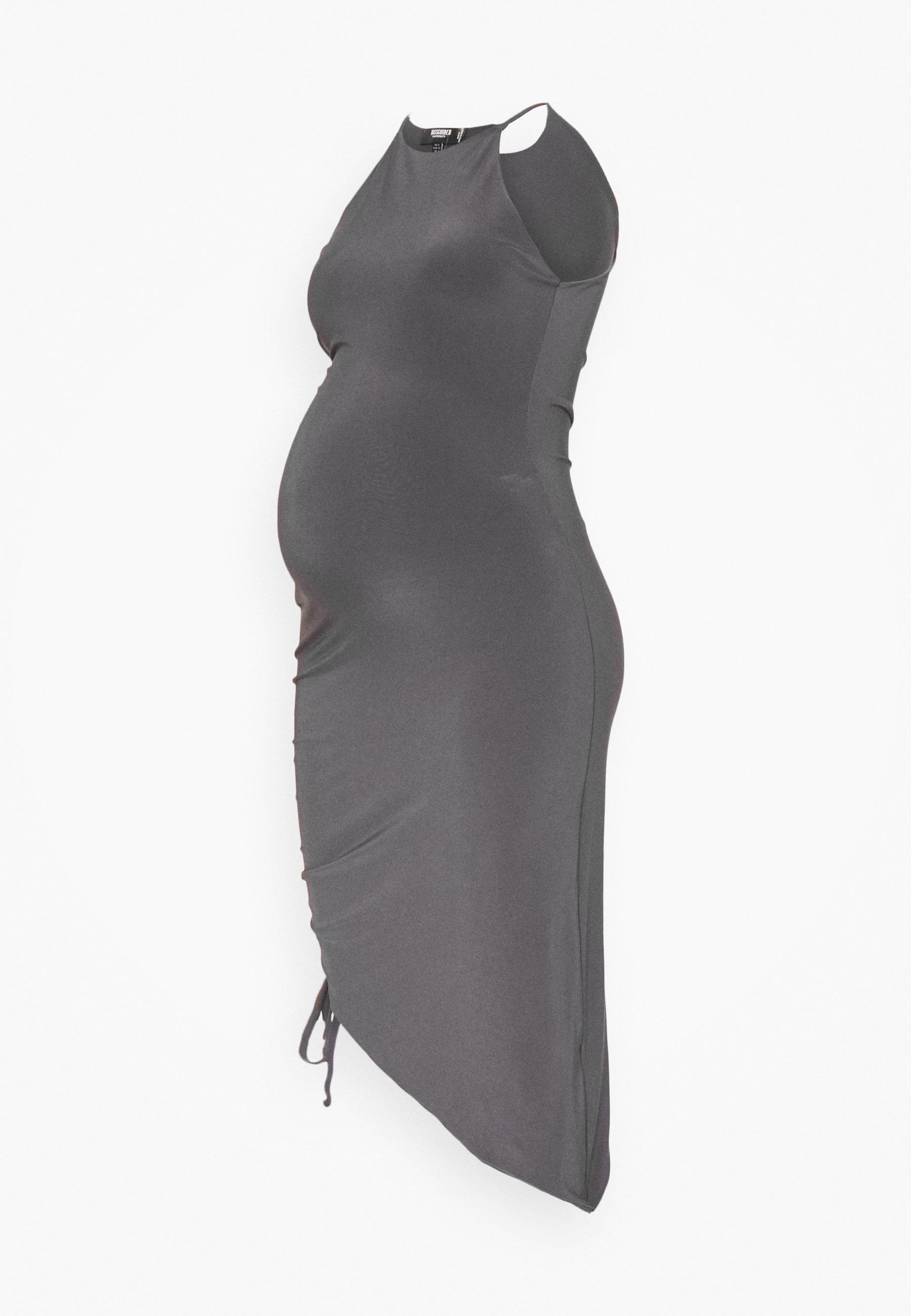 Women MATERNITY SLINKY RACER NK RUCHED DRESS - Day dress