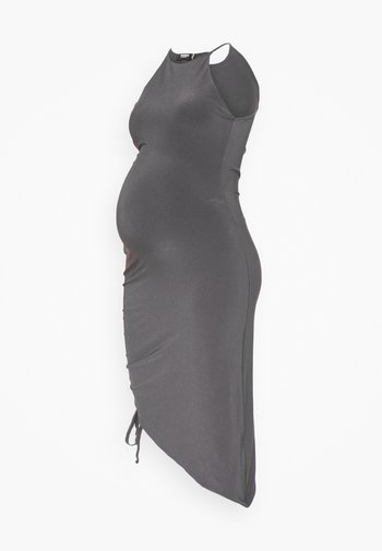 MATERNITY SLINKY RACER NK RUCHED DRESS