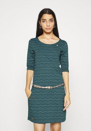 TANYA CHEVRON - Jersey dress - dark green