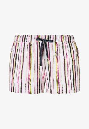 Pyjama bottoms - allover schwarz rosa