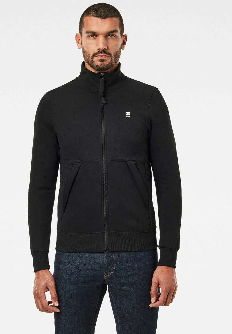 G-Star - UTILITY TRACK LONG SLEEVE - veste en sweat zippée - dk black